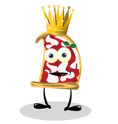 Pizza king vector
