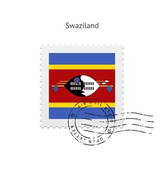 Swaziland flag postage stamp vector