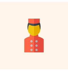 Bellboy travel flat icon vector