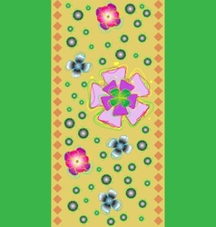 Tape with the stylized flowers vector