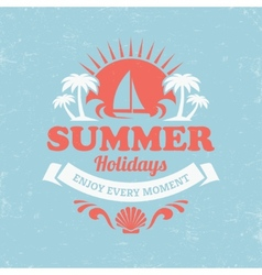 Retro summer poster vector image