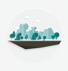 Flat design nature landscape mountain vector