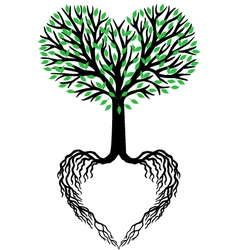tree of life heart tree vector image