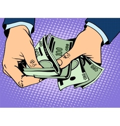 Payback cash in hand vector image