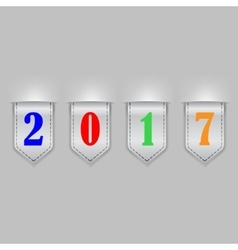 Bookmark ribbons new year vector