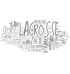 A look at lacrosse text word cloud concept vector
