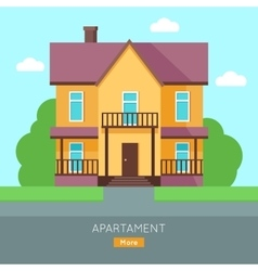 Apartment Web Banner in Flat Design vector image