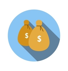 Bags of money flat icon vector image