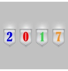 Bookmark ribbons new year vector