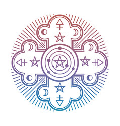 bright mystery occult esoteric symbol isolated on vector image