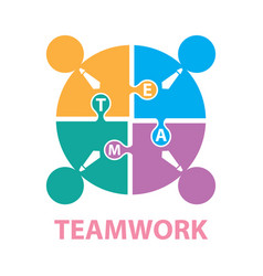 Businessmen with jigsaw puzzle pieces teamwork vector