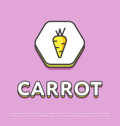 Carrot colour icon in line design vector