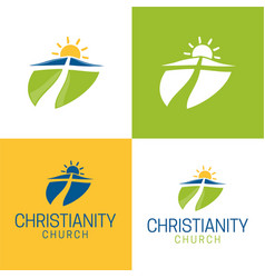 christianity logo and icon vector image vector image