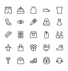 Fashion line icons 5 vector