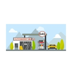 Gas oil station vector image vector image