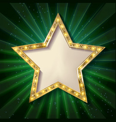 Gold star on a dark background vector