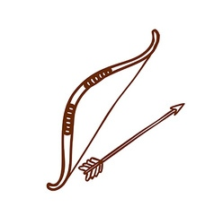 Hand Drawn Bow and Arrow vector image vector image