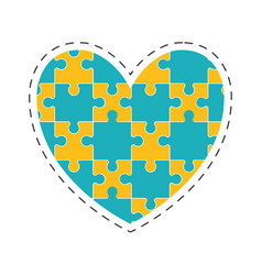 Heart puzzle solution image vector