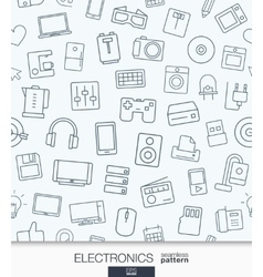 Home Electronics wallpaper Black and white vector image