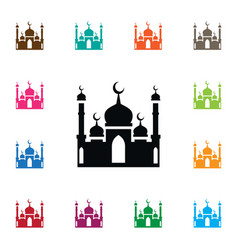 Isolated mohammedanism icon culture vector