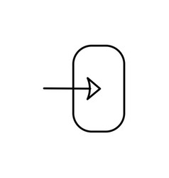 login icon vector image vector image
