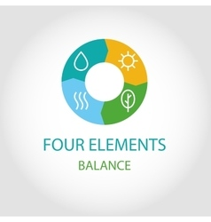 Logo four natural elements vector image