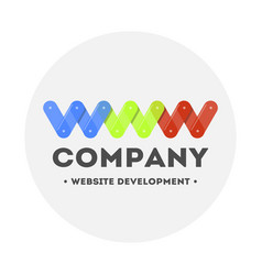 logo web design and website development computer vector image vector image