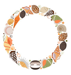 Marine life wreath icon vector