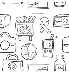 Medical object set of doodles vector