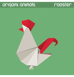 origami isolated animal Rooster vector image vector image