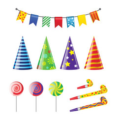 Party elements - realistic set of holiday vector