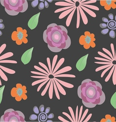 Pattern seamless with flowers vector
