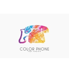 Phone logo color phone design creative logo vector