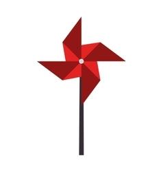 Pinwheel toy wind vector