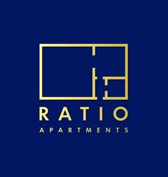real estate logo design template vector image