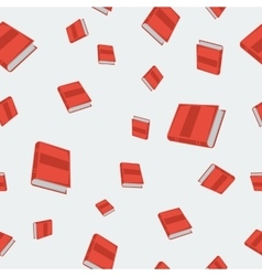 Seamless - red books vector image vector image