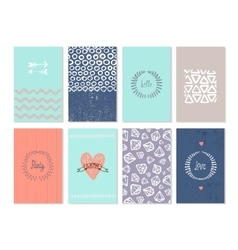 set of art cards Use for wedding vector image vector image