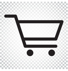 Shopping cart icon flat business concept simple vector