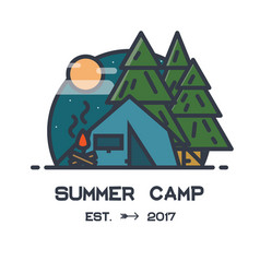 Summer camp vector