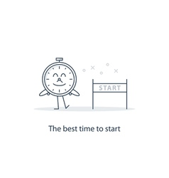 The best time to start vector image