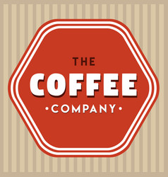 the coffee company logo vintage vector image vector image