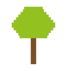 tree plant pixel icon vector image