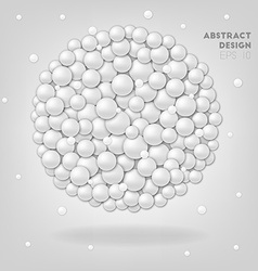 White abstract circles in sphere vector image vector image