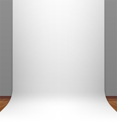 White paper studio backdrop vector image