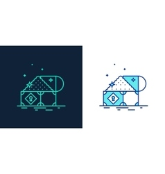 Icon of a treasure linear style vector