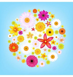 Flowers and blue sky vector