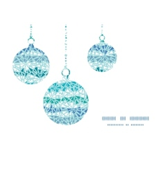 Abstract ice chrystals texture christmas ornaments vector