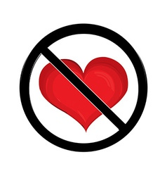 No love sign vector