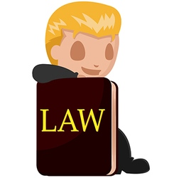 Worker man lawyer cartoon book vector