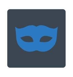 Privacy mask flat smooth blue colors rounded vector